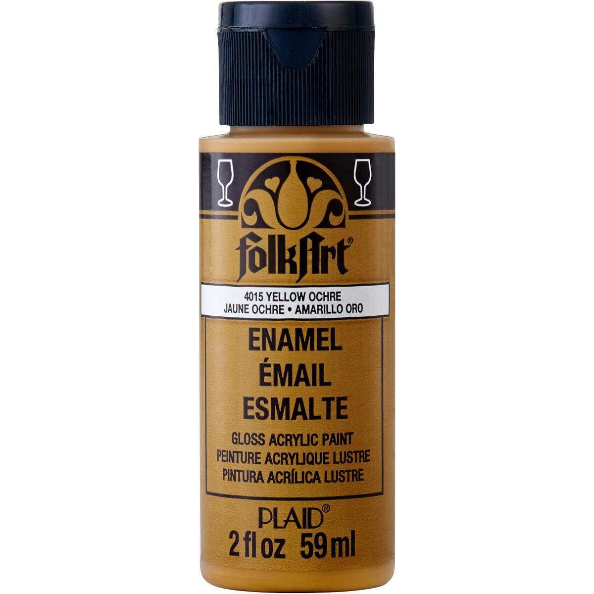 FolkArt ® Enamels™ - Yellow Ochre, 2 oz. - 4015
