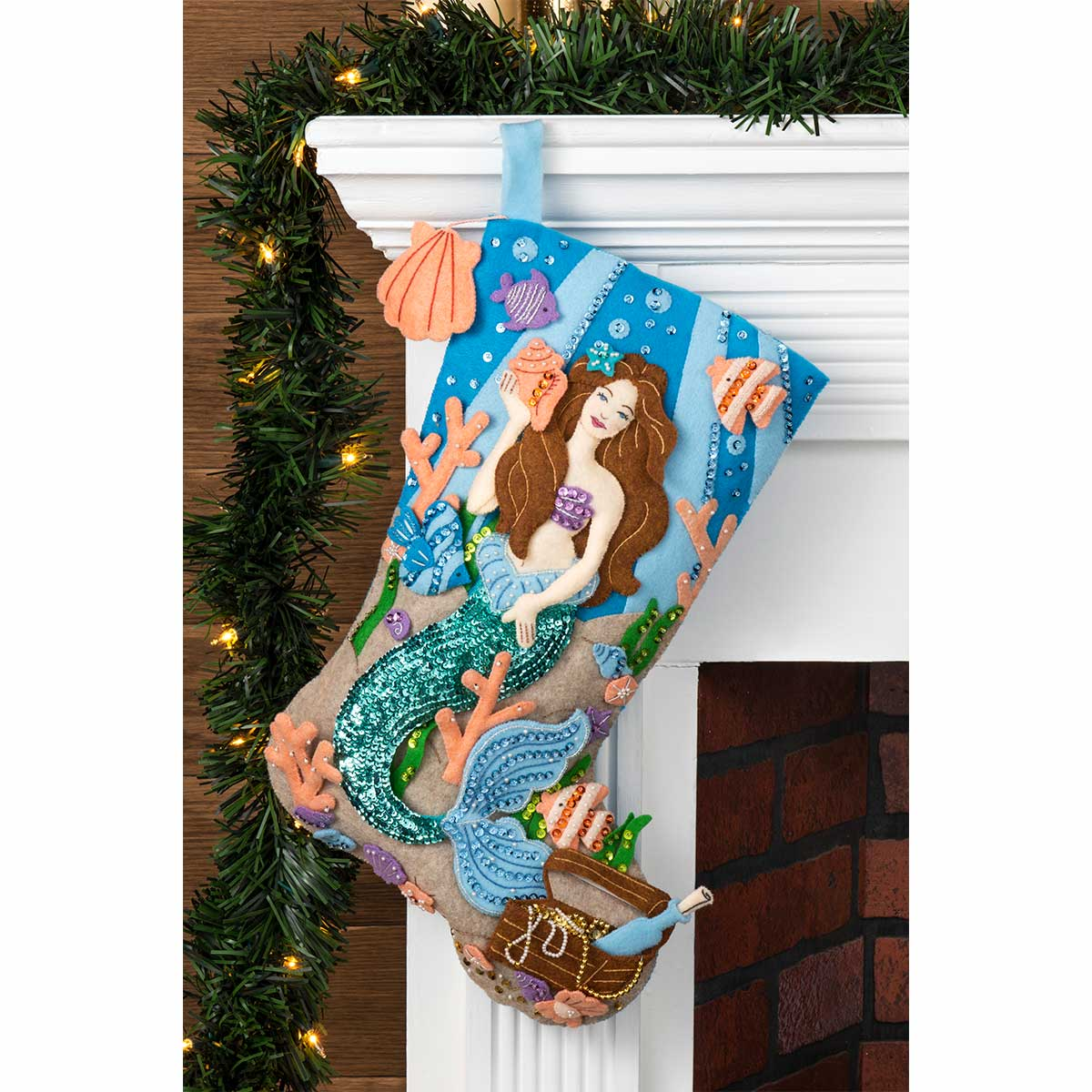 Bucilla ® Seasonal - Felt - Stocking Kits - Sea Princess - 89072E