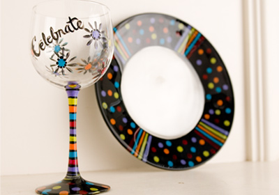 Celebration Plate and Stemware