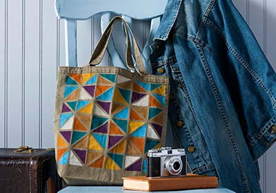 Linear Love Canvas Tote