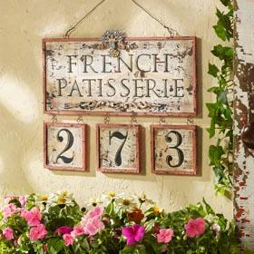 DIY Paris Decor Idea - Patisserie Door Sign