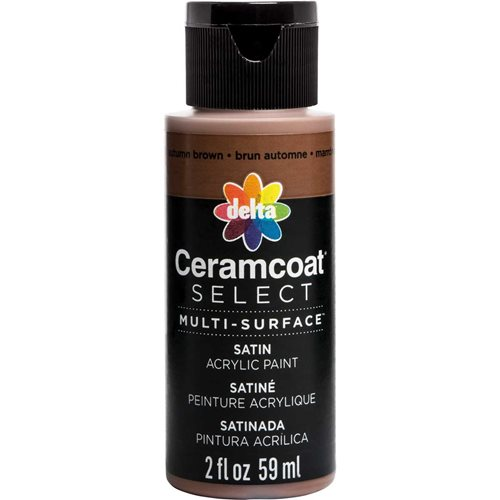 Delta Ceramcoat ® Select Multi-Surface Acrylic Paint - Satin - Autumn Brown, 2 oz.