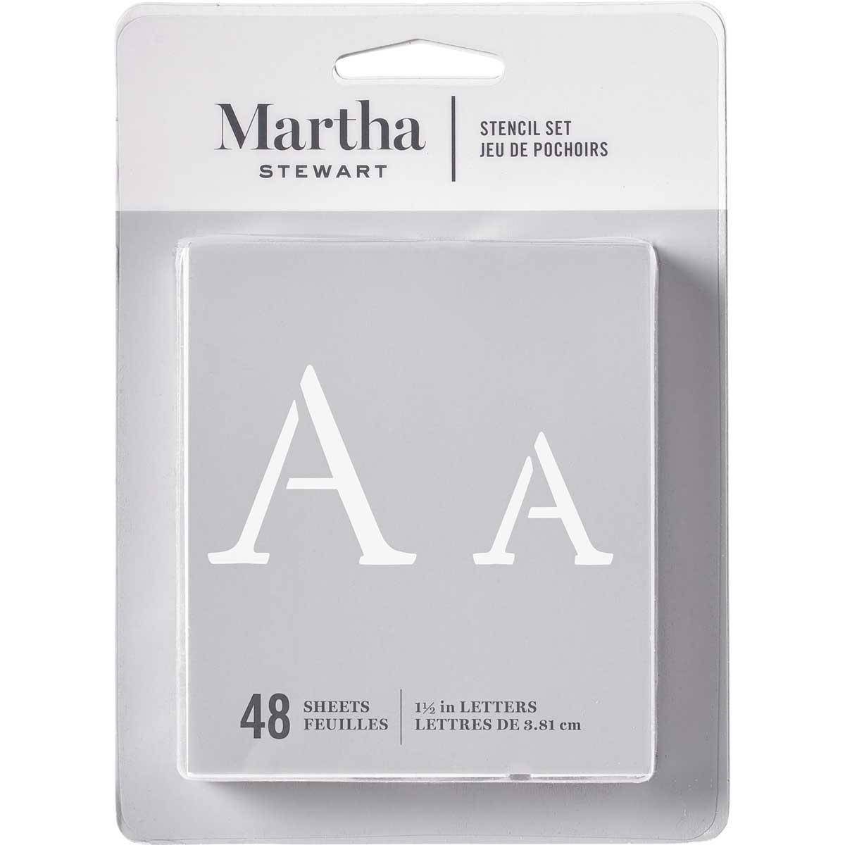 Martha Stewart® Monogram Serif Alphabet  Stencil Set 48pc