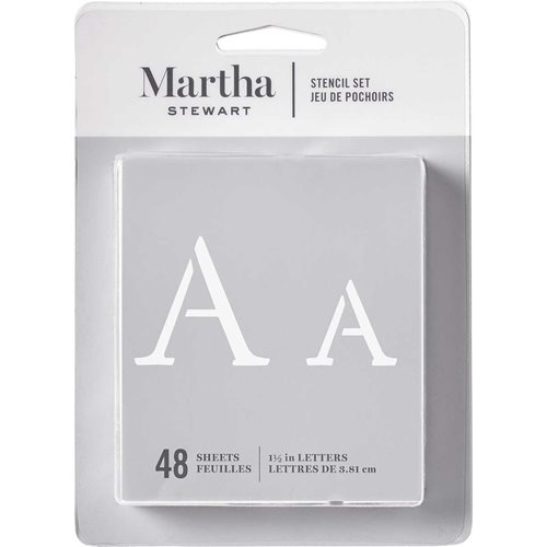 Martha Stewart® Monogram Serif Alphabet  Stencil Set 48pc