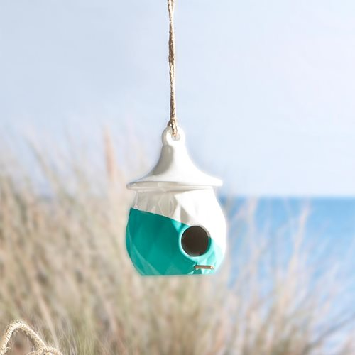 Dipped Ceramic Birdhouse