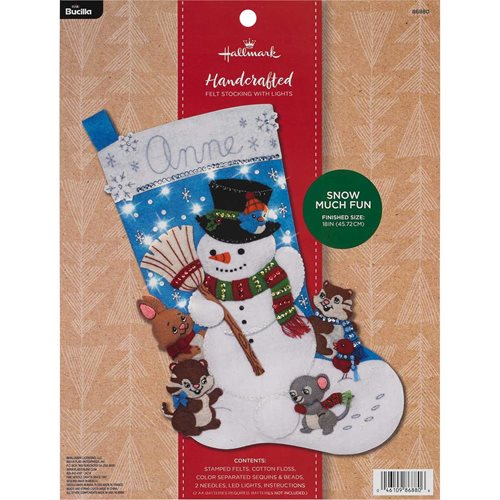 Bucilla ® Seasonal - Felt - Stocking Kits - Hallmark - Snow Much Fun with Lights