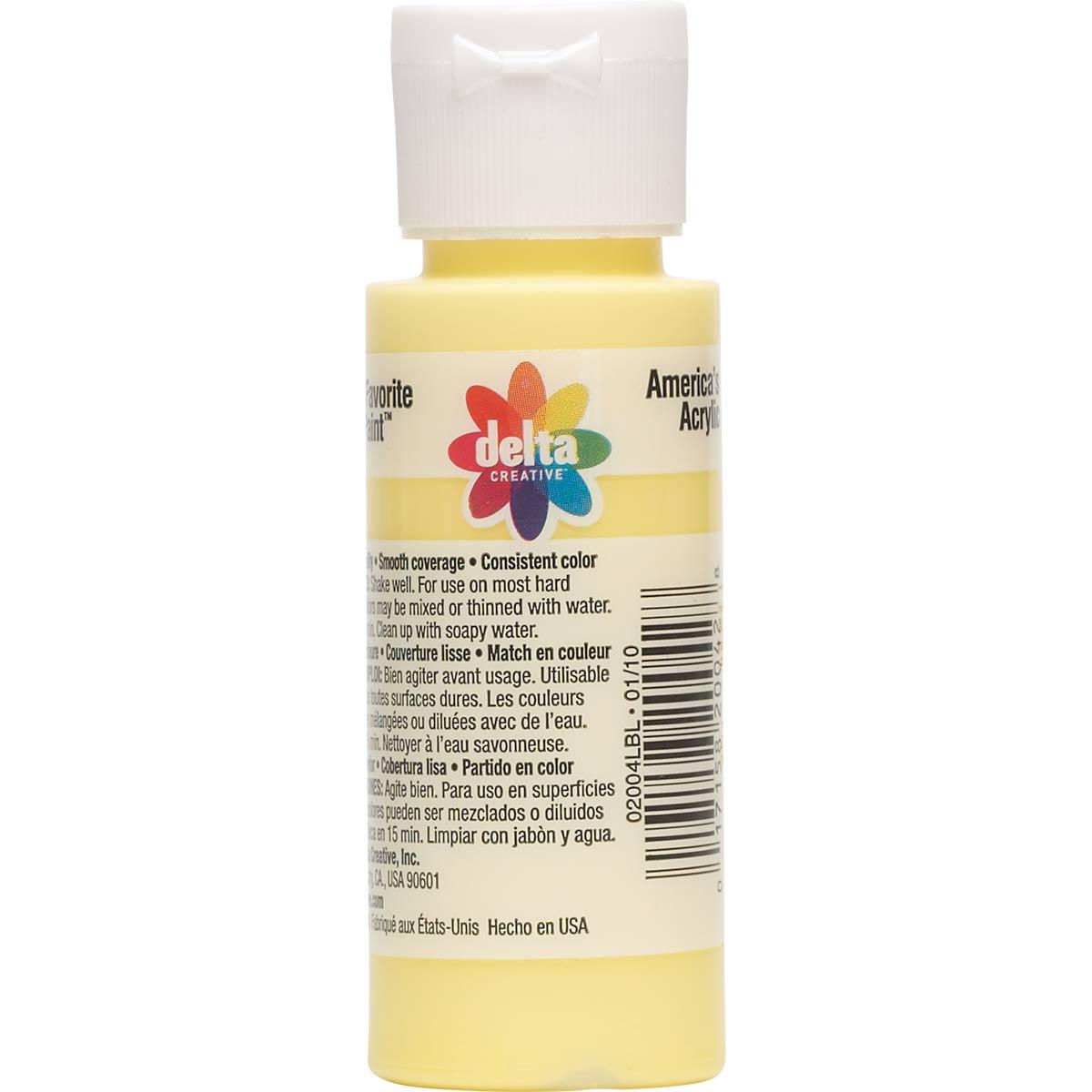 Delta Ceramcoat ® Acrylic Paint - Luscious Lemon, 2 oz.