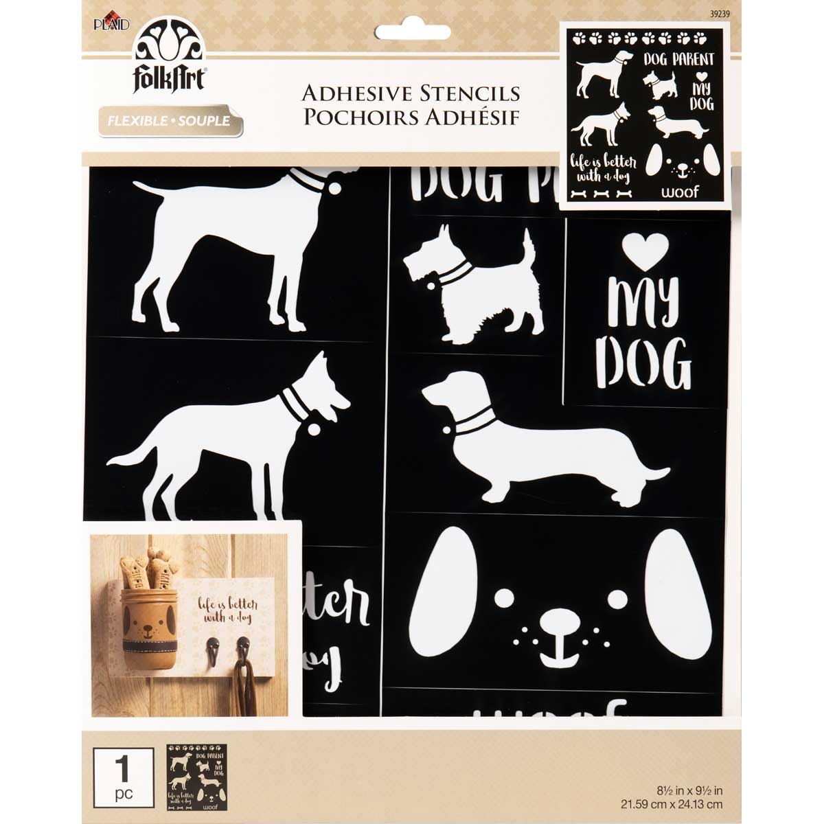 FolkArt ® Laser Cut Adhesive Stencils - Dogs