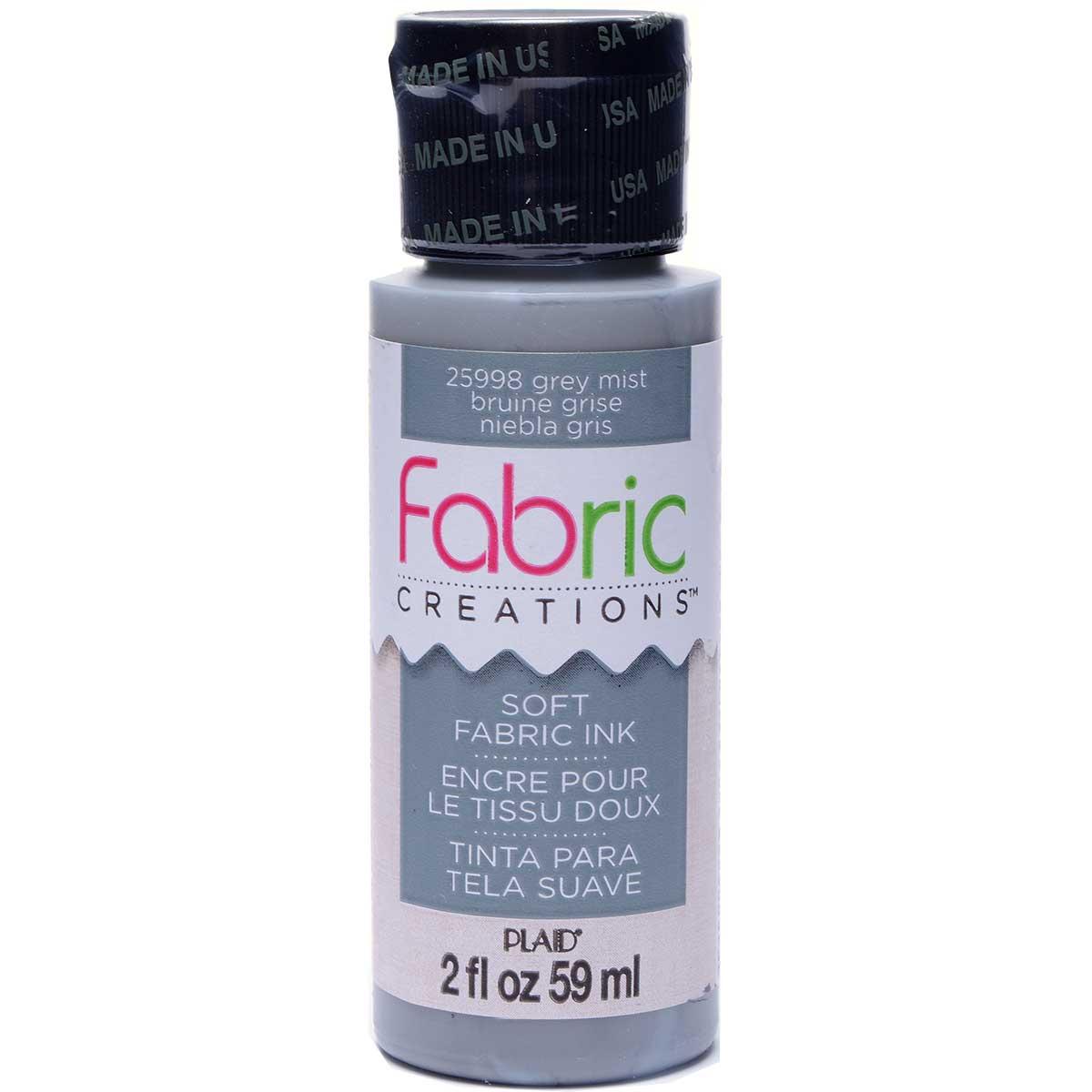 Fabric Creations™ Soft Fabric Inks - Grey Mist, 2 oz. - 25998