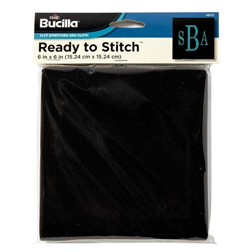 "Bucilla ® Ready to Stitch™ Blanks - Counted Cross Stitch - Black, 6"" x 6"""
