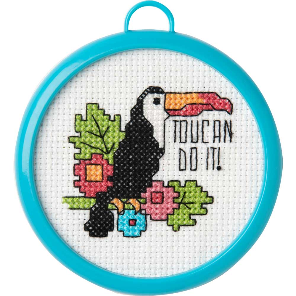 Bucilla ® My 1st Stitch™ - Counted Cross Stitch Kits - Mini - Toucan Do It - 49174E