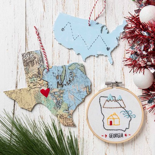 DIY State Pride Ornament Ideas
