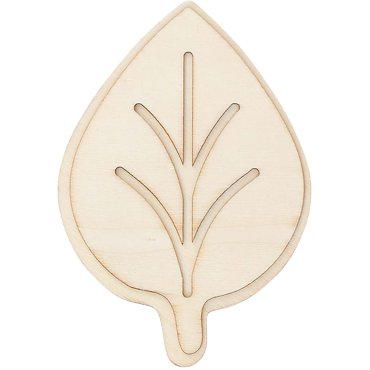 Plaid ® Wood Surfaces - Unpainted Layered Shapes - Leaf - 44967