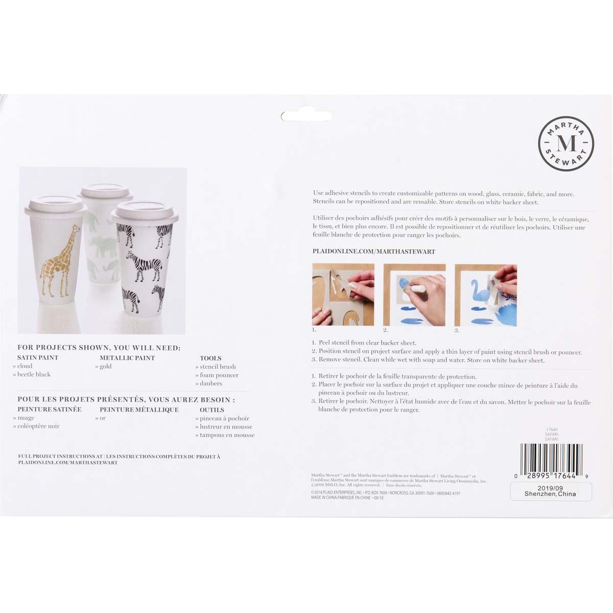 Martha Stewart ® Adhesive Stencil - Safari - 17644