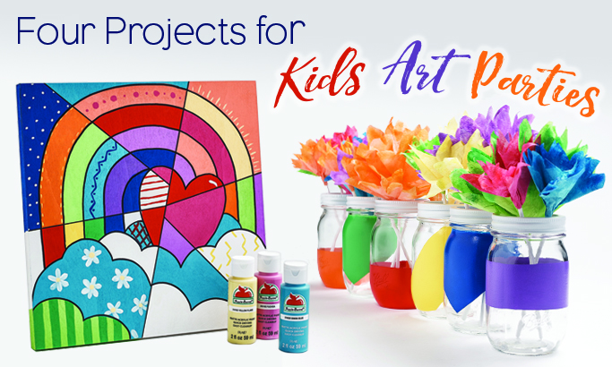 Four Projects for Kids Art Parties