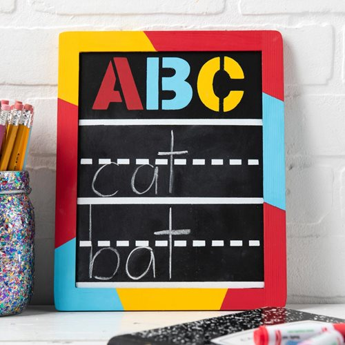 """ABC"" DIY Chalkboard Idea"