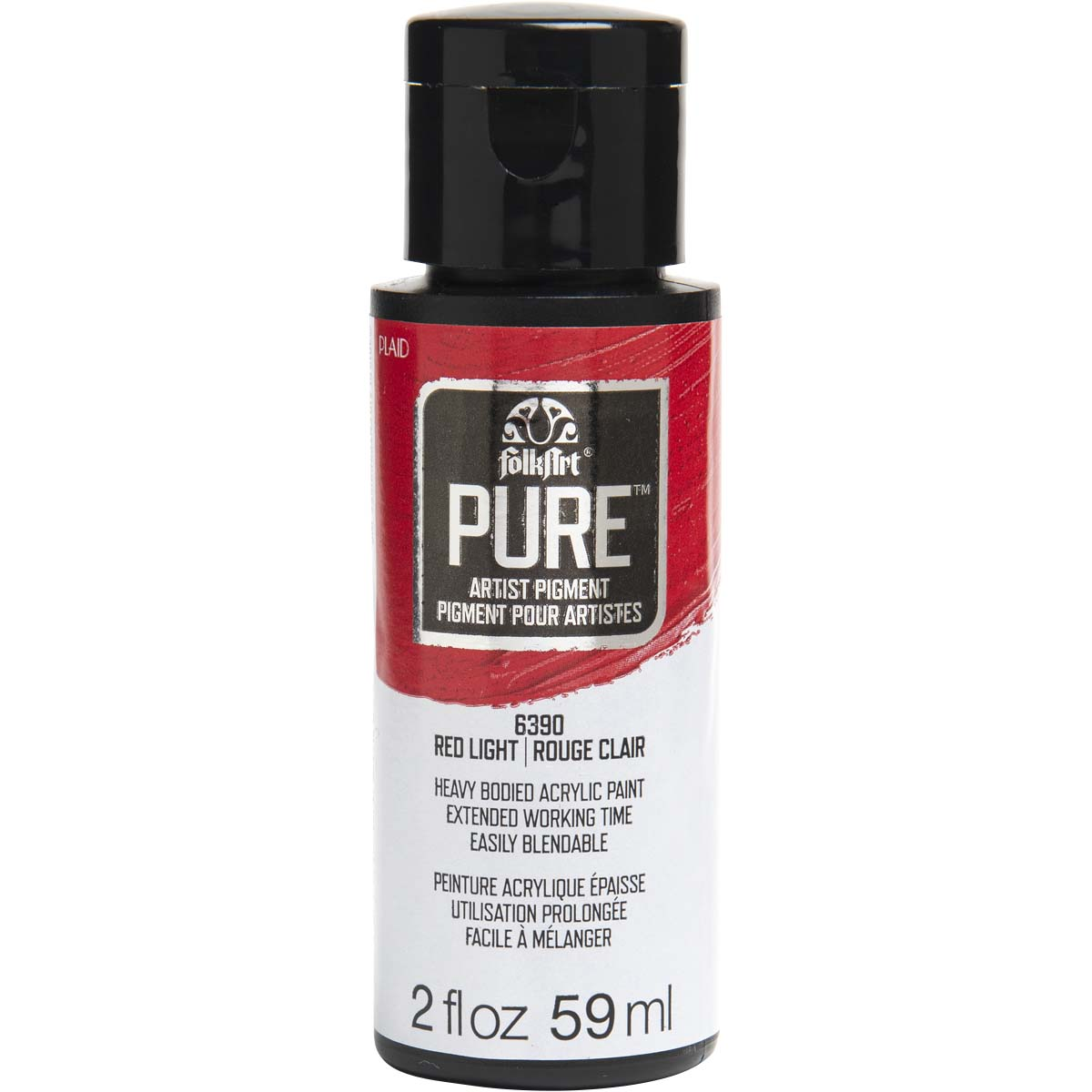 FolkArt ® Pure™ Artist Pigment - Red Light, 2 oz. - 6390