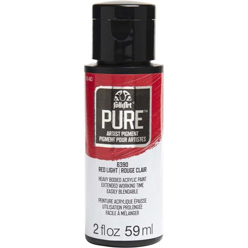 FolkArt ® Pure™ Artist Pigment - Red Light, 2 oz. - 6390