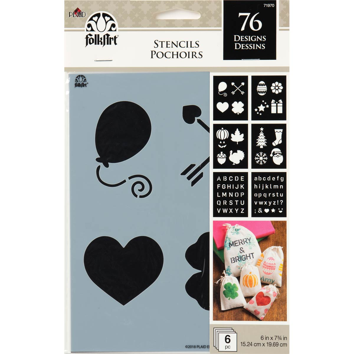 FolkArt ® Craft Stencils - Value Packs - Holiday - 71970