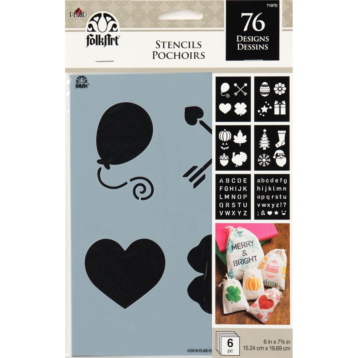 FolkArt ® Craft Stencils - Value Packs - Holiday