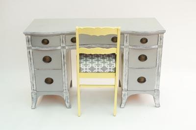 Thrift Store Furniture Makeover - Desk & Chair