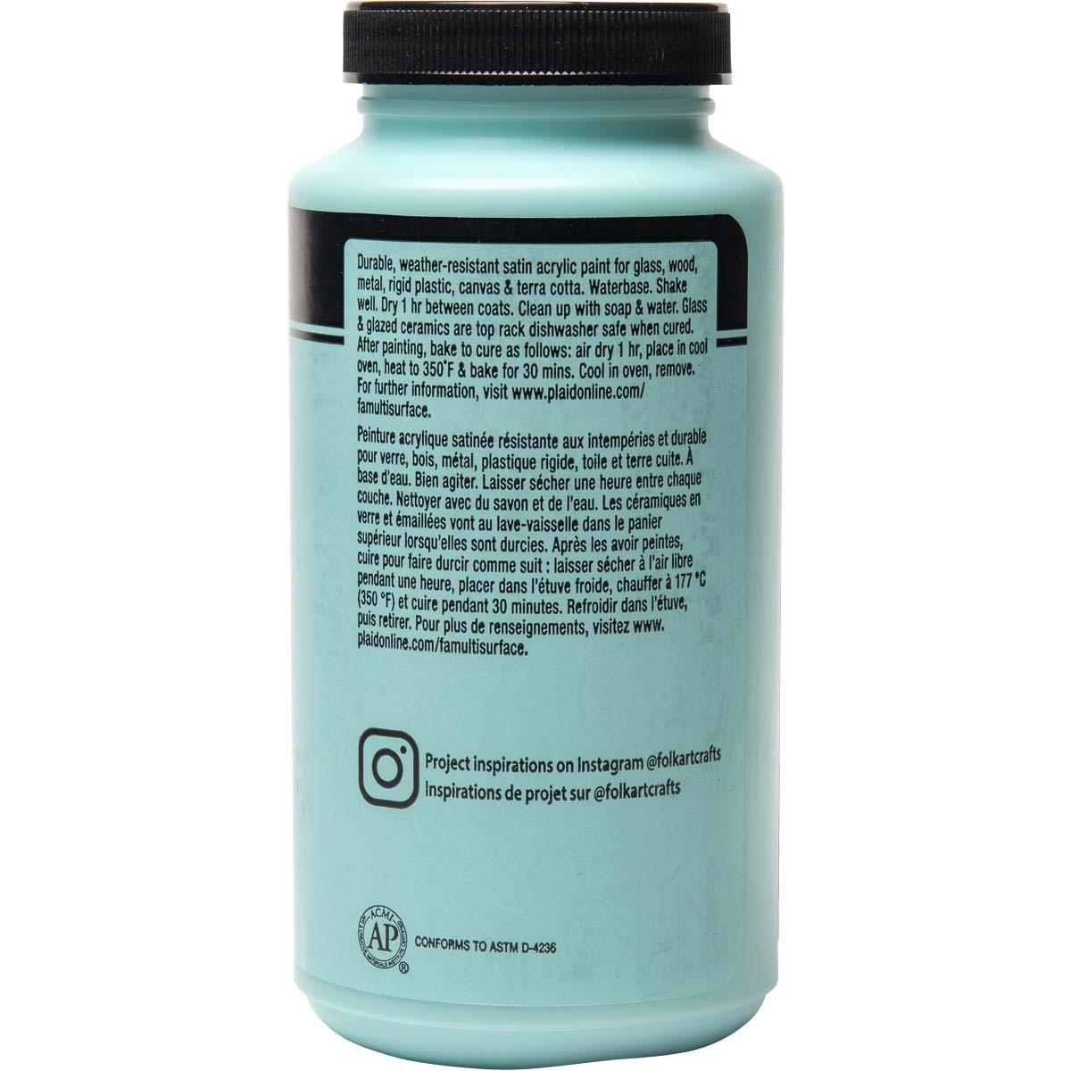 FolkArt ® Multi-Surface Satin Acrylic Paints - Patina, 16 oz. - 6379