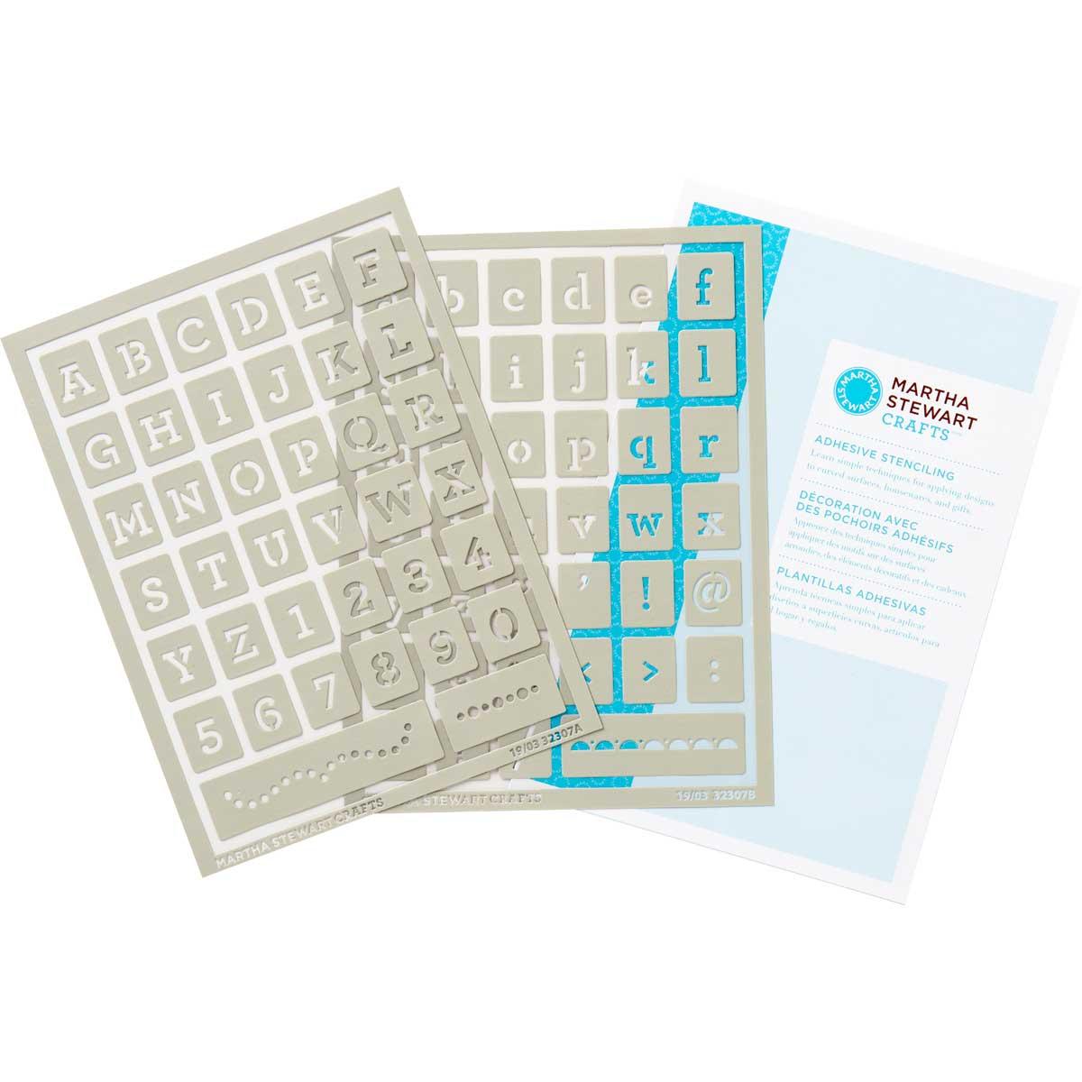 Martha Stewart ® Adhesive Stencil - Typewriter