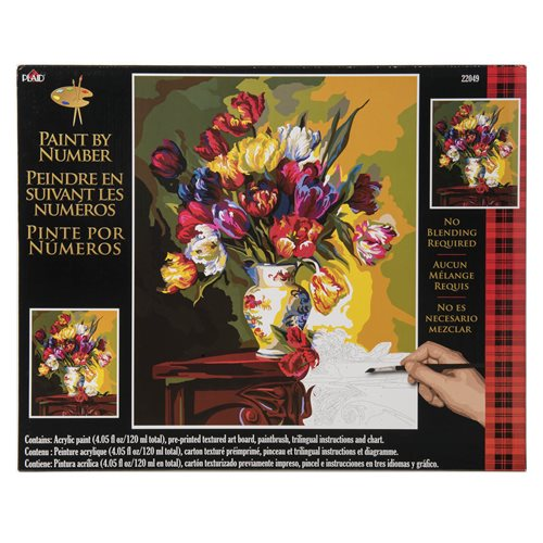Plaid ® Paint by Number - Tulips on Parade