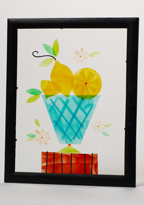 Lemon Filled Vase
