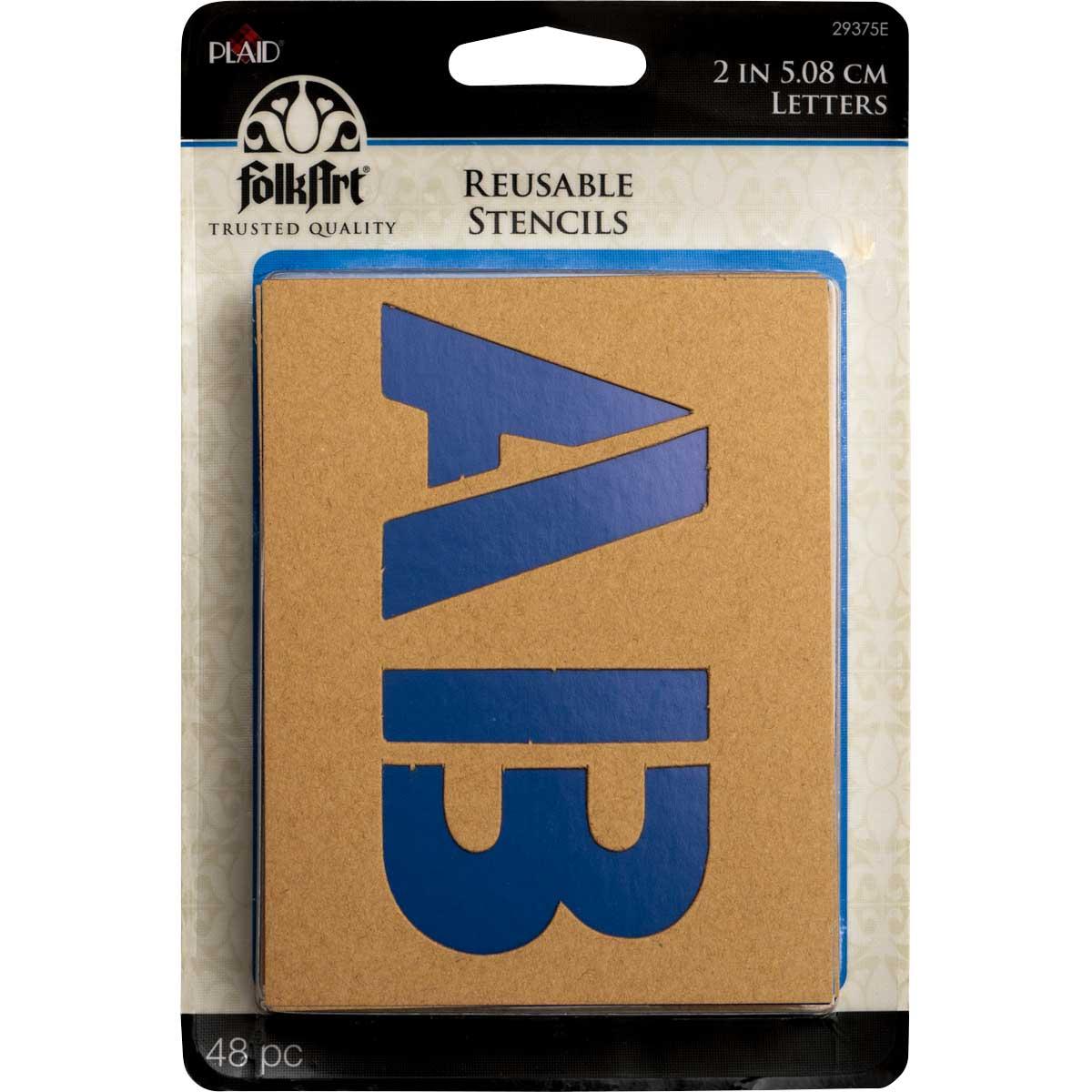 Plaid ® Stencils - Value Packs - Letter Stencils - Plain Jane, 2