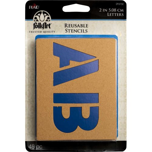Plaid ® Stencils - Value Packs - Letter Stencils - Plain Jane, 2""