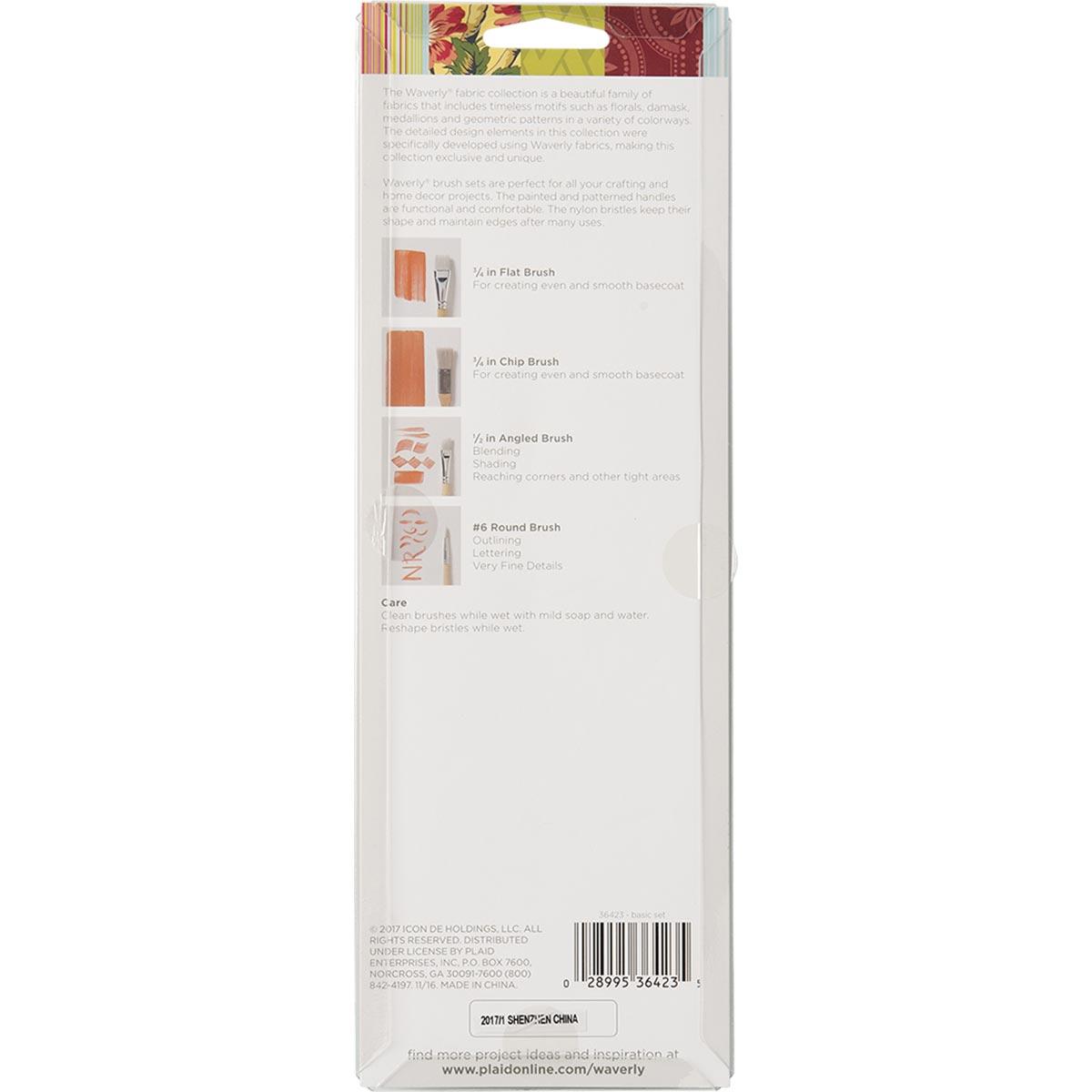 Waverly ® Brushes - Basic Set, 4 pc.