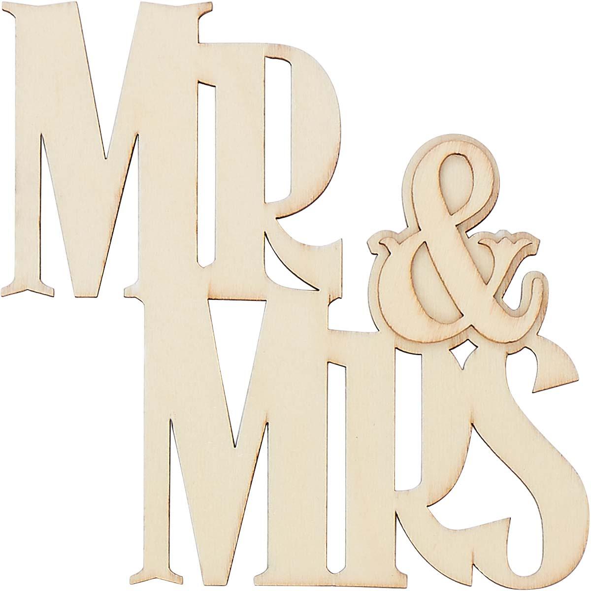 Plaid ® Wood Surfaces - Shape - Mr & Mrs - 40667
