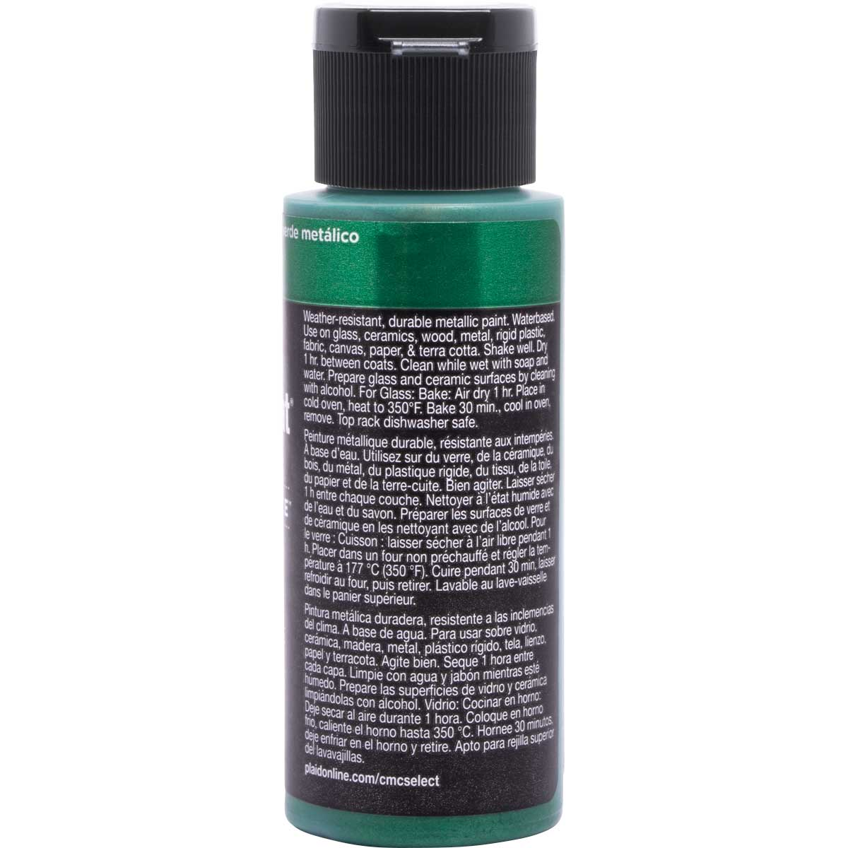 Delta Ceramcoat ® Select Multi-Surface Acrylic Paint - Metallic - Green, 2 oz. - 04102