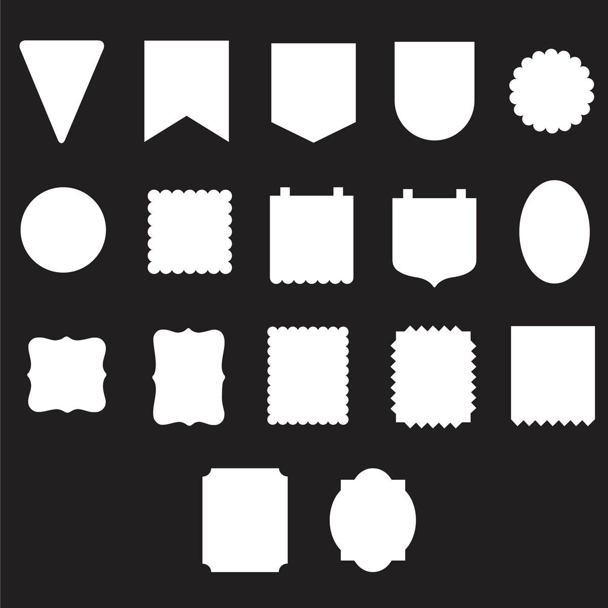FolkArt ® Alphabet & Monogram Paper Stencils - Pennant Shapes