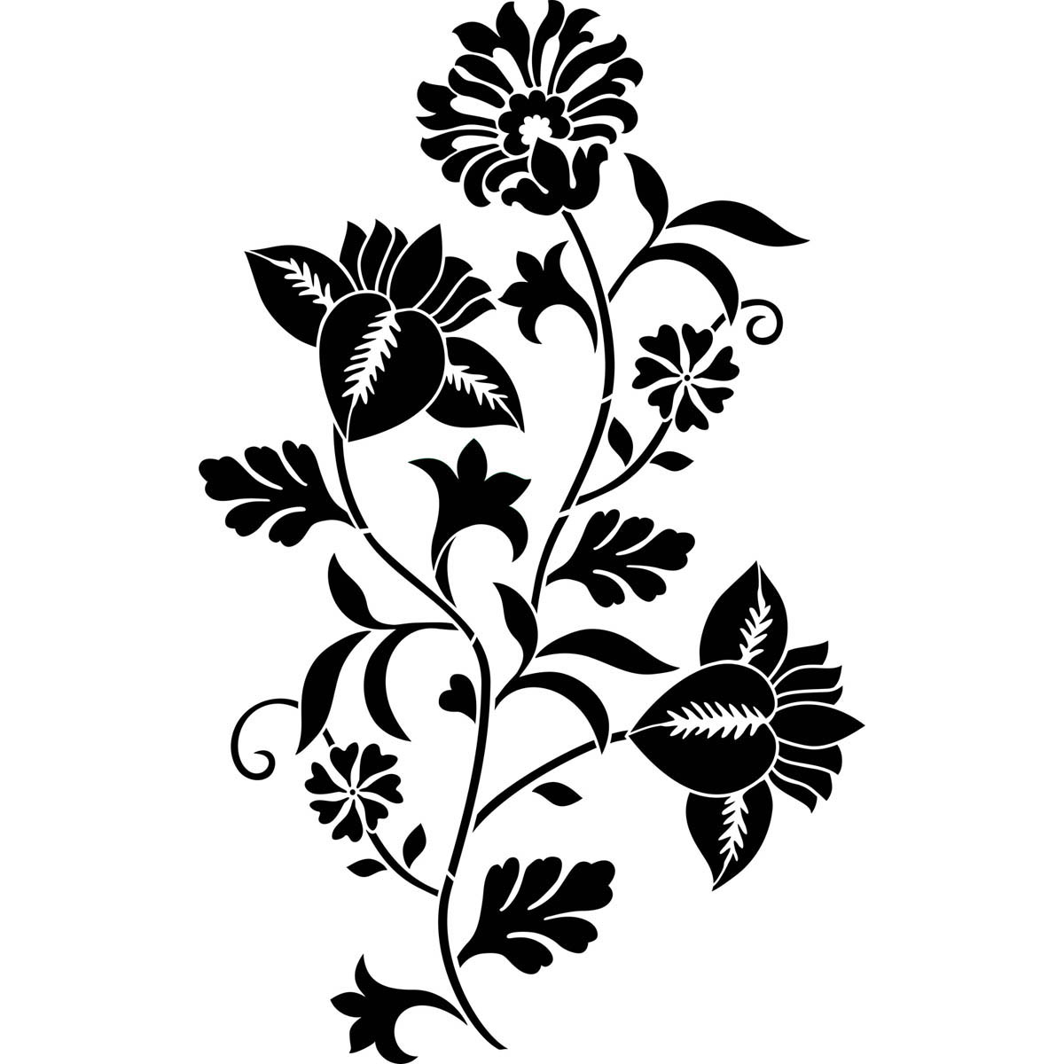 FolkArt ® Painting Stencils - Wall, Floor & Furniture - Climbing Floral