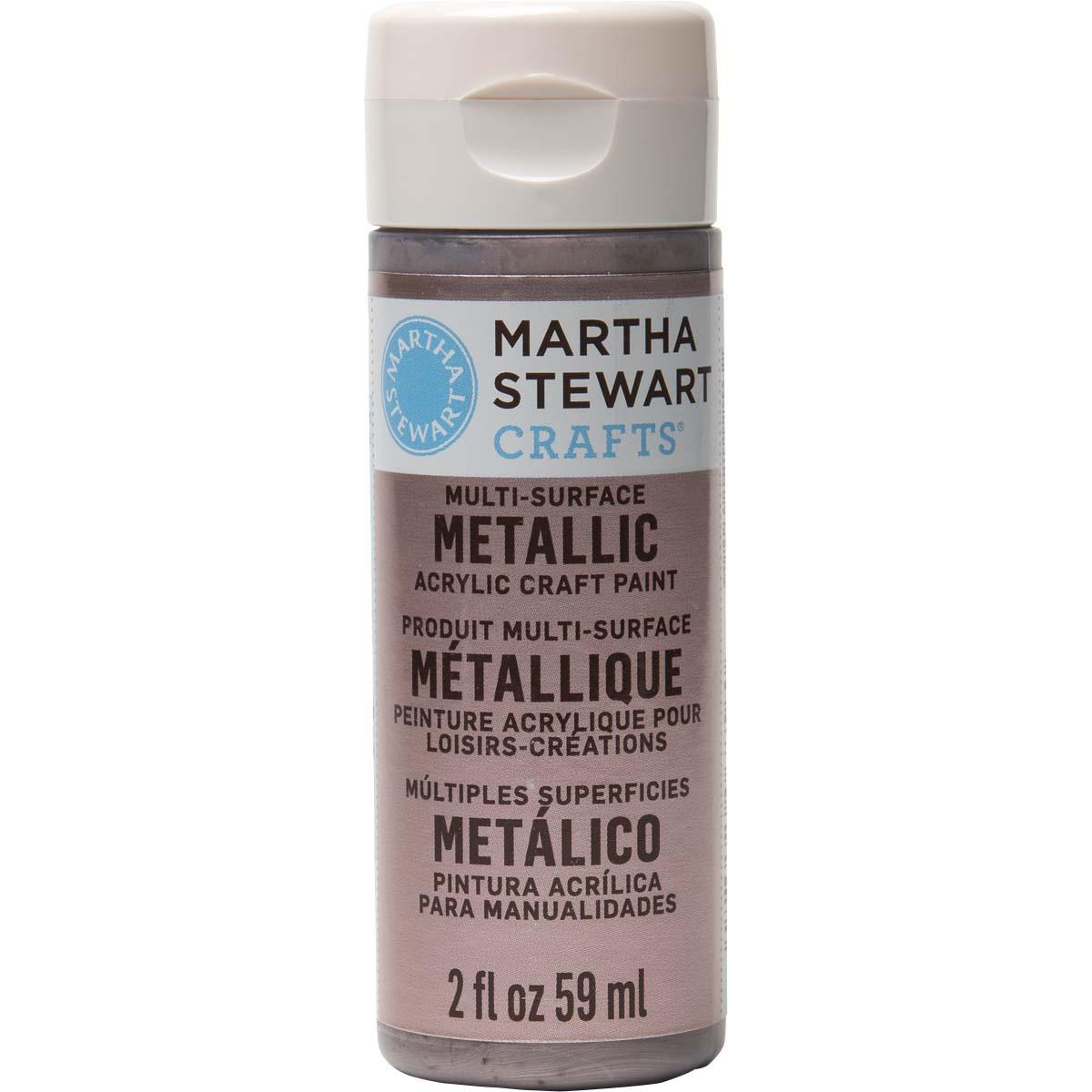 Martha Stewart ® Multi-Surface Metallic Acrylic Craft Paint - Rose Chrome, 2 oz. - 32995CA