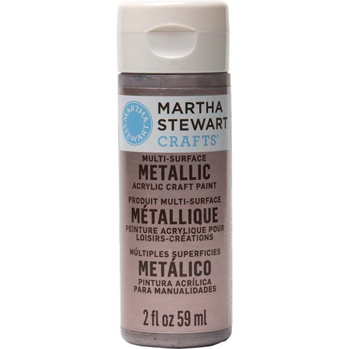 Martha Stewart ® Multi-Surface Metallic Acrylic Craft Paint - Rose Chrome, 2 oz. - 32995CA