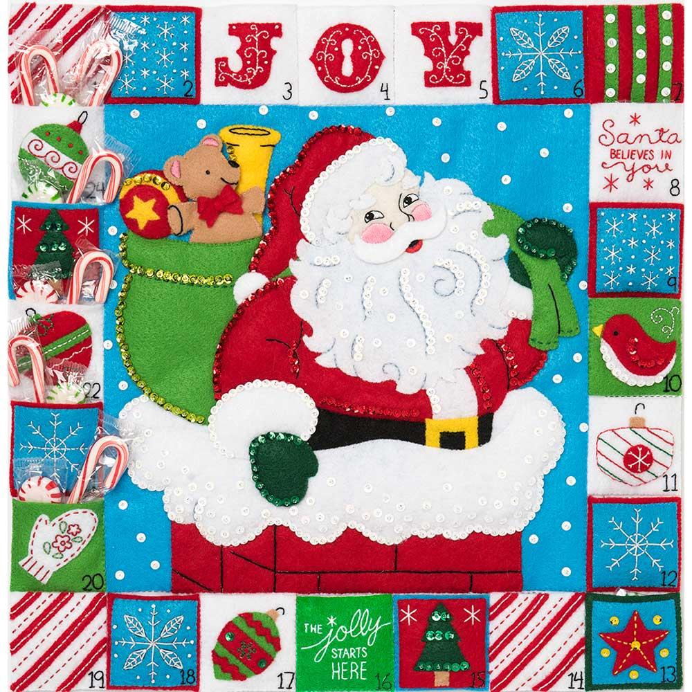 Bucilla Seasonal Felt - Advent Calendar Kit - Hallmark - Merry Moments - 86883