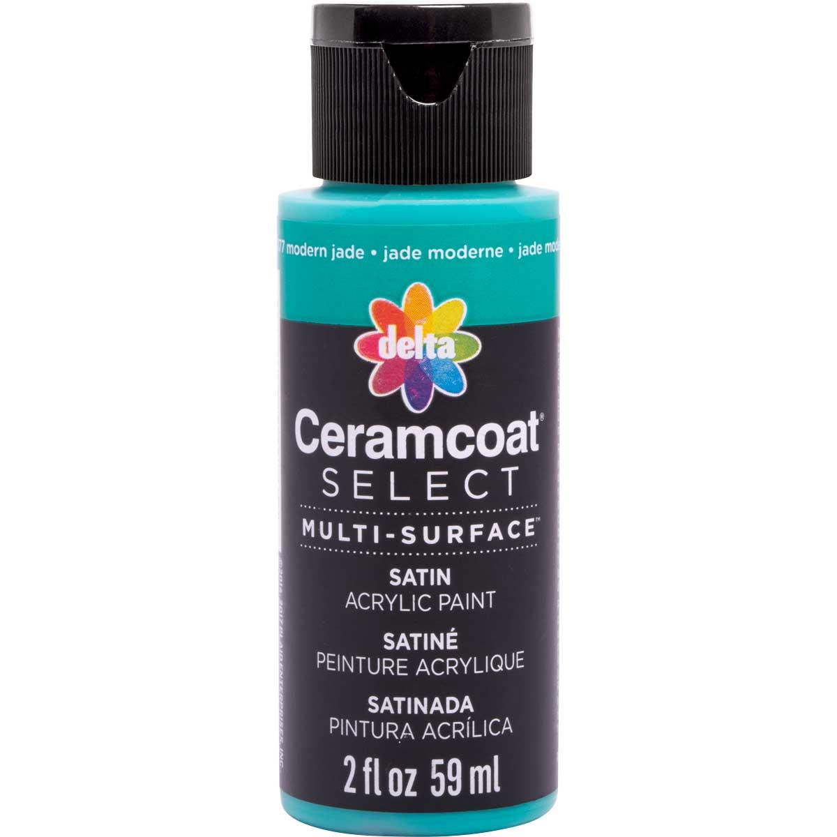 Delta Ceramcoat ® Select Multi-Surface Acrylic Paint - Satin - Modern Jade, 2 oz. - 04077