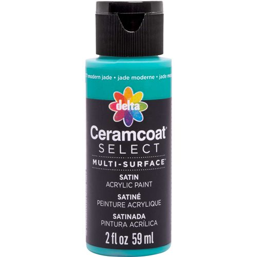 Delta Ceramcoat ® Select Multi-Surface Acrylic Paint - Satin - Modern Jade, 2 oz. - 04077