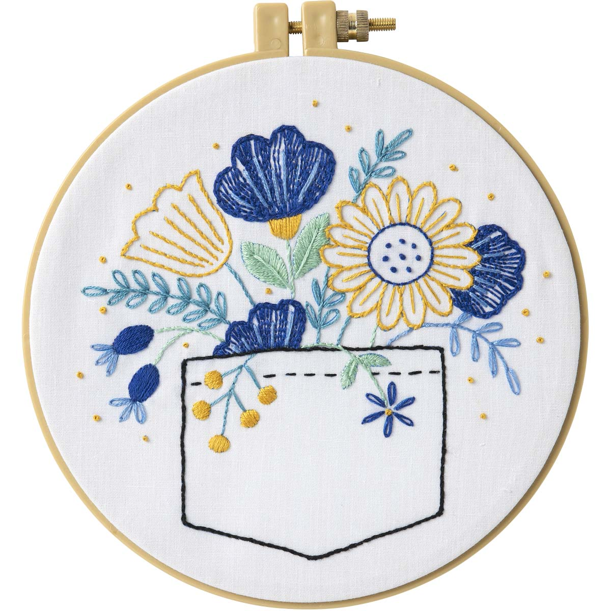 Bucilla ® Stamped Embroidery - Pocket Full of Posies - 47914E