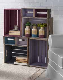 DIY Wood Crate Shelf Unit