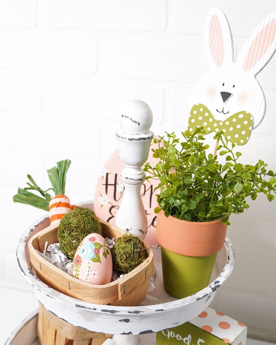 Bunny Pick in Clay Pot