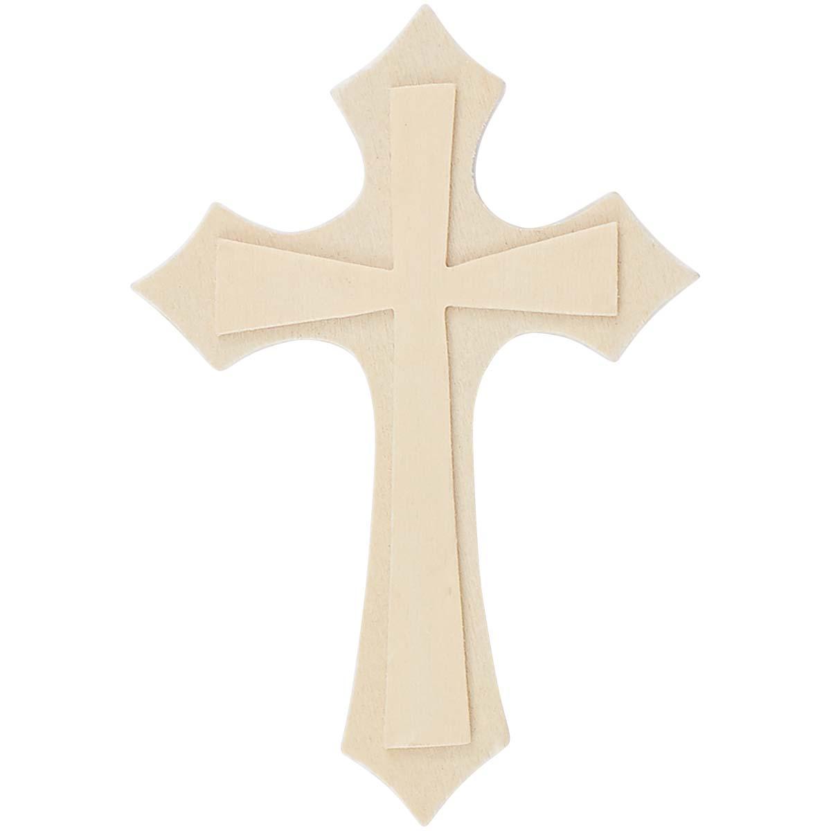 Plaid ® Wood Surfaces - Unpainted Shapes - Cross - 40651
