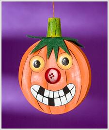 Smiling Jack-o-lantern Ornament