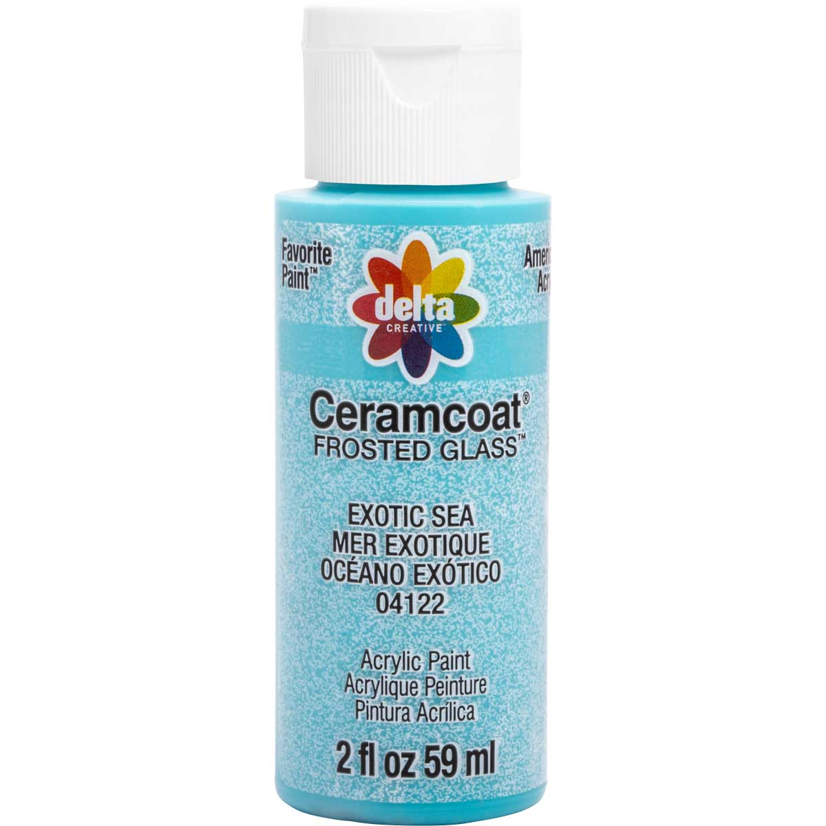 Delta Ceramcoat ® Frosted Glass Paint - Exotic Sea, 2 oz.