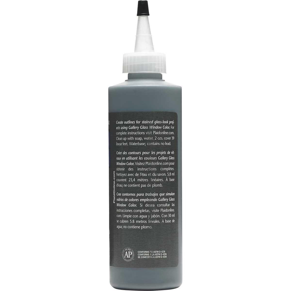 Gallery Glass ® Liquid Leading™ - Black, 8 oz. - 16082