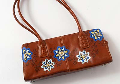 Boho Flower Leather Purse