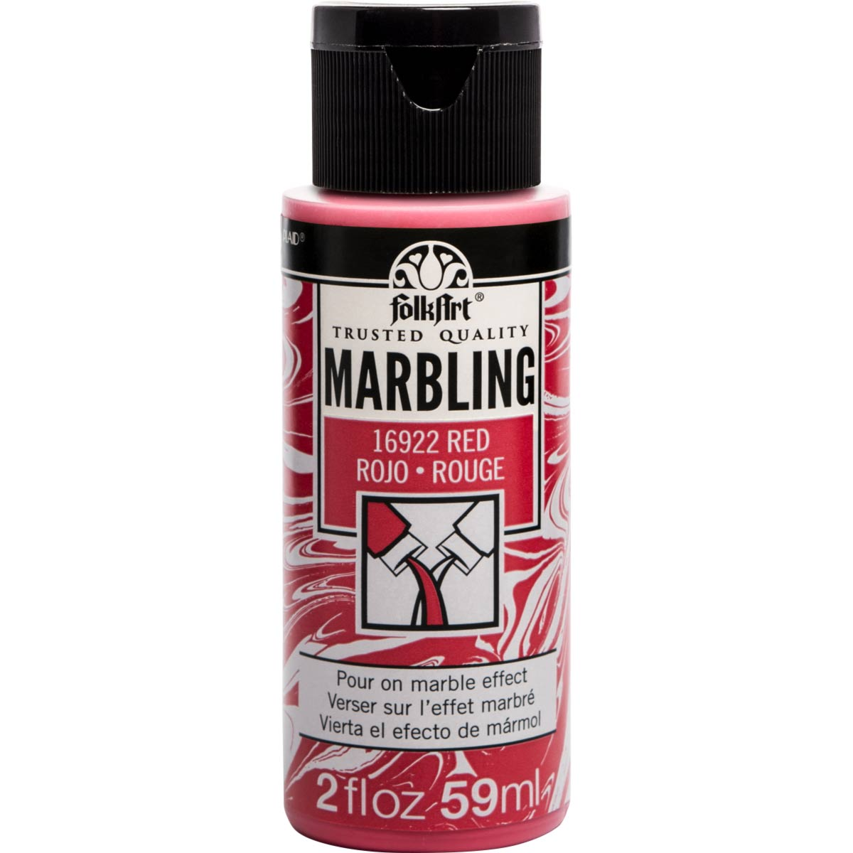 FolkArt ® Marbling Paint - Red, 2 oz.